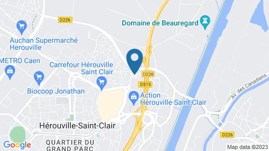 ibis budget Caen Hérouville Map