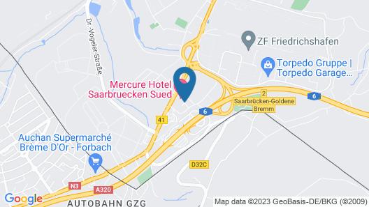 Mercure Hotel Saarbrücken Süd Map
