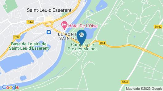 Camping Le Pré des Moines Map
