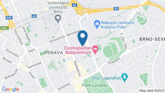 Avanti Hotel Brno Map