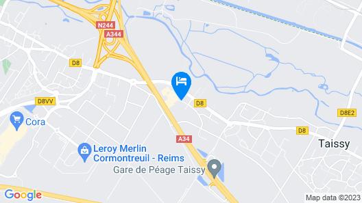 Premiere Classe Reims Est - Taissy Map