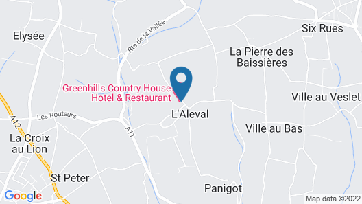 Greenhills Country House Hotel Map