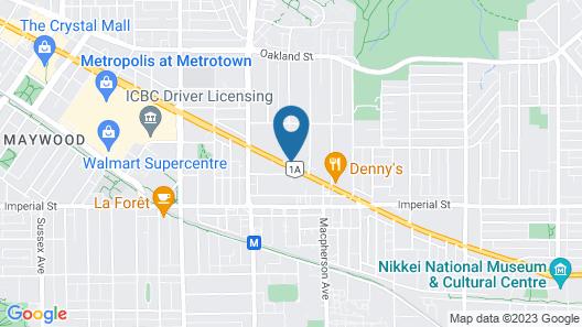 Best Western Plus Burnaby Hotel Map