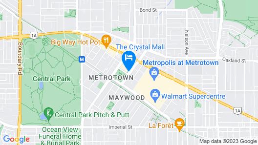 Hilton Vancouver Metrotown Map