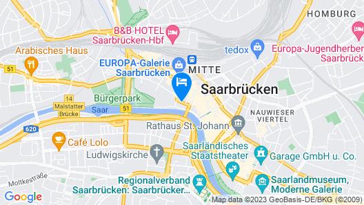 Mercure Hotel Saarbrücken City Map