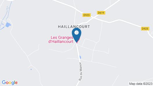 Les Granges d'Haillancourt Map