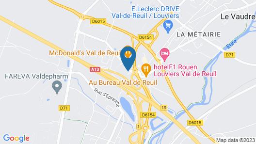 Kyriad Direct Rouen Sud - Val de Reuil Map
