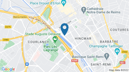 Mercure Reims Cathédrale Map