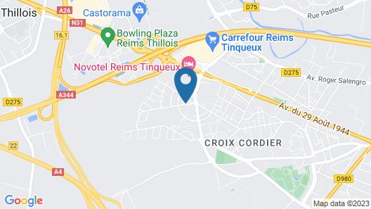 HOTELF1 Reims Tinqueux Map