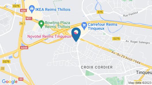 ibis Reims Tinqueux Map