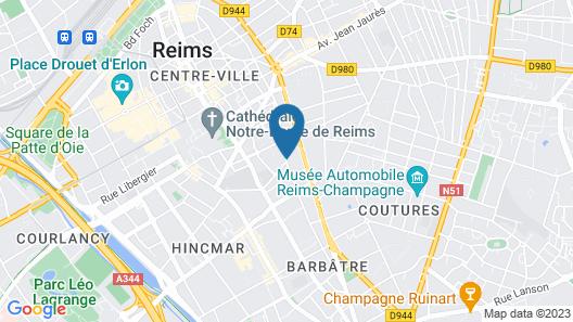 Appart'City Confort Reims Centre Map