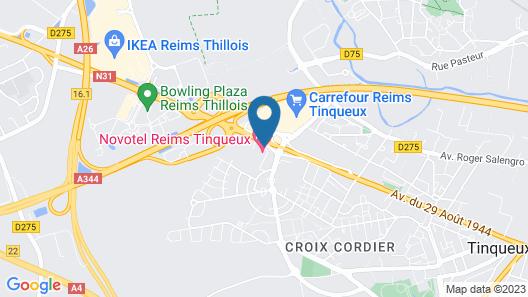 Novotel Reims Tinqueux Map