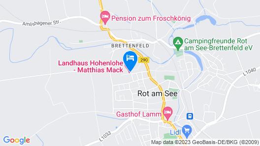 Landhaus Hohenlohe Map
