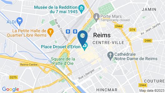 Best Western Hôtel Centre Reims Map