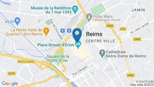 The Originals City, Hôtel Le Bristol, Reims (Inter-Hotel) Map