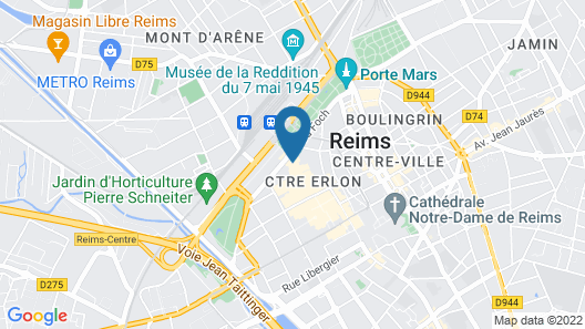 Hotel Continental - Reims Map