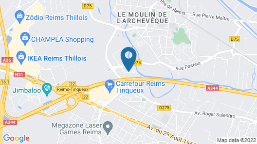 Enzo Hotels Reims Tinqueux By Kyriad Direct Map