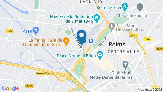 B&B Hotel Reims Centre Gare Map