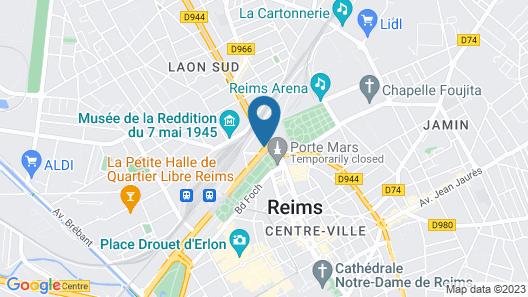 Hôtel Porte Mars Reims Gare Centre Map