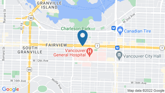Park Inn & Suites by Radisson, Vancouver Map