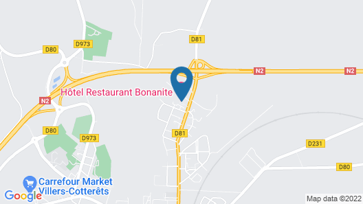 Hôtel Restaurant Bonanite Map