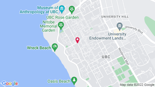 Ponderosa Studios at UBC Map