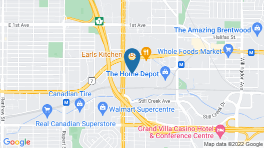 Accent Inns Burnaby Map