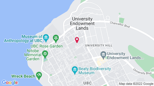 Gage Residence at UBC Map
