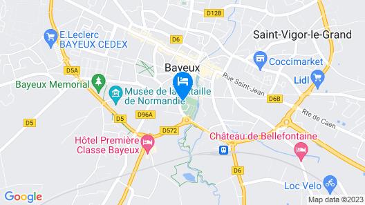 Castel Bayeux Guesthouse Map