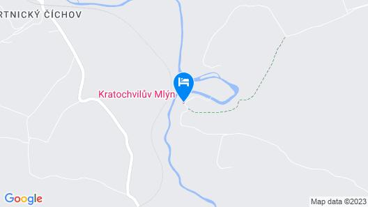 Kratochviluv Mlyn Hotel Map