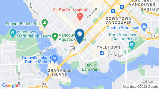 GEC Granville Suites Downtown Map