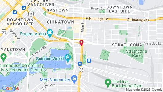 C&N Backpackers Hostel - Vancouver Map