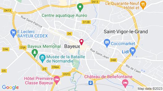 Churchill Hotel Bayeux Centre Map