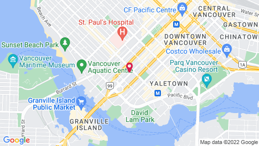 Ramada by Wyndham Vancouver Downtown Map
