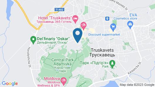 Afrodita Hotel Map
