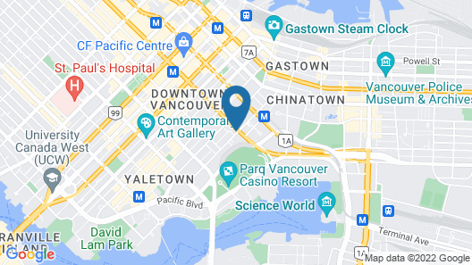 Sandman Hotel Vancouver City Centre Map