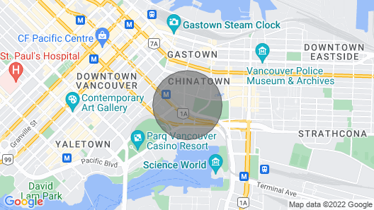 Solarium in Shared Downtown Condo: Pool & Gym Map