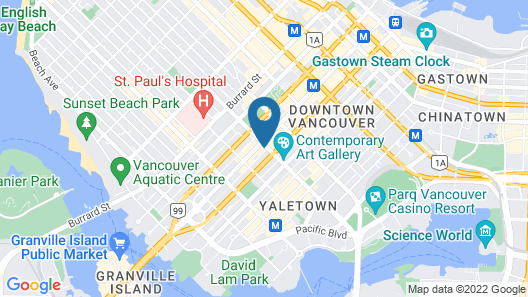 Hotel Belmont Vancouver, Ascend Hotel Collection Map