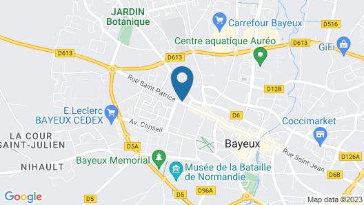 Hôtel Le Saint-Patrice Map