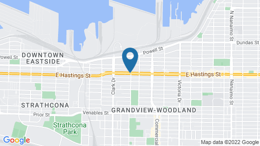 Hotel at the Waldorf Map