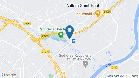 Premiere Classe Creil - Villers Saint Paul Map