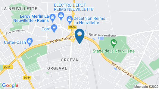 Premiere Classe Reims Nord - Betheny Map