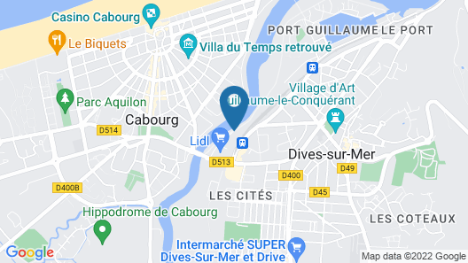 Kyriad Prestige Residence Cabourg - Dives-sur-Mer Map