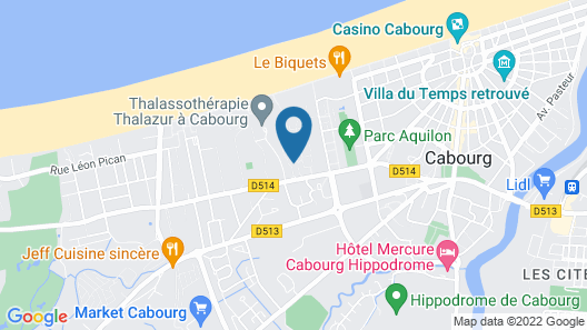 2 piéce +terrasse ensoleillée accés direct à la plage Map