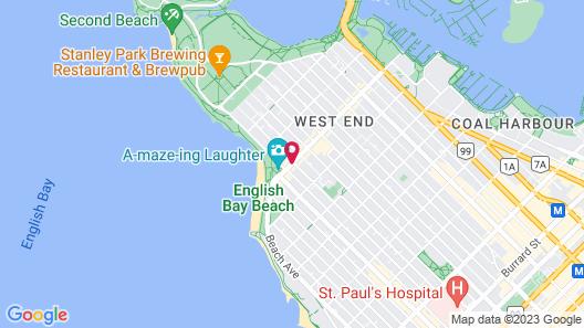 English Bay Hotel Map
