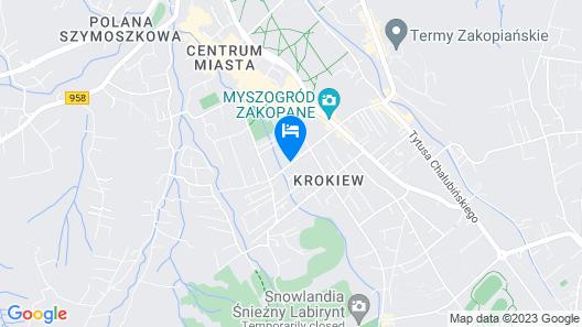 Hotel Czarny Potok Map