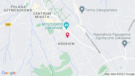 Hotel Rysy Map