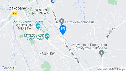 Radisson Blu Hotel & Residences, Zakopane Map