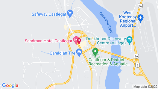 Sandman Hotel Castlegar Map