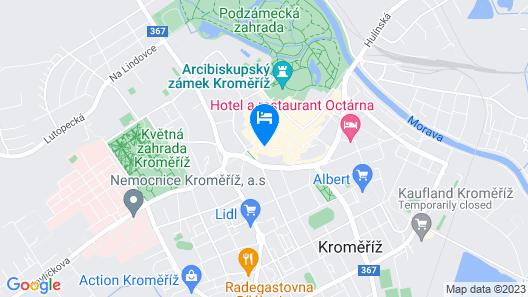 Apartments Kroměříž Map